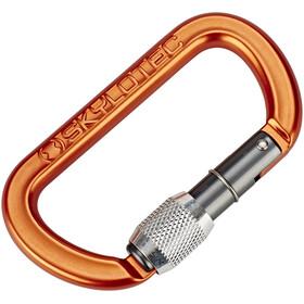 Skylotec Oval Screw Carabiner orange/black
